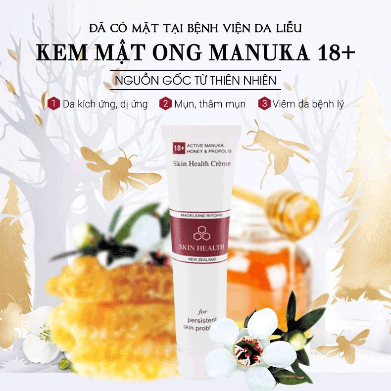 Kem Mật Ong Manuka Skin Health 18+ Madeleine Ritchie 40ml 9
