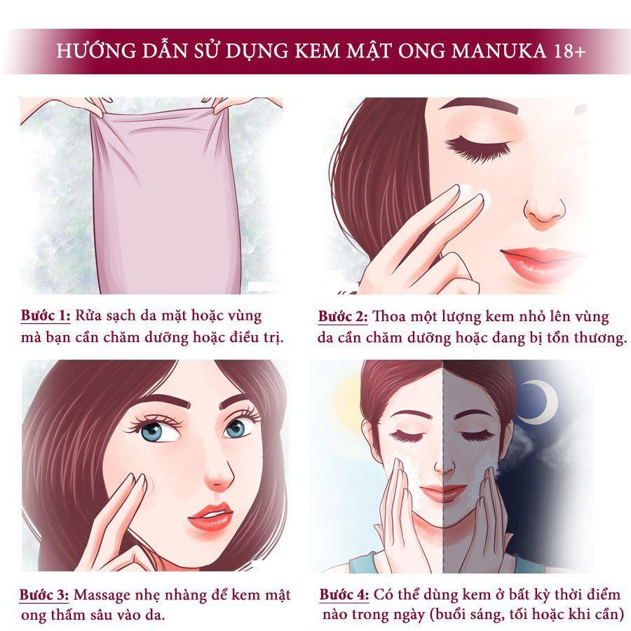 Cách Dùng Kem Mật Ong Manuka Skin Health 18+