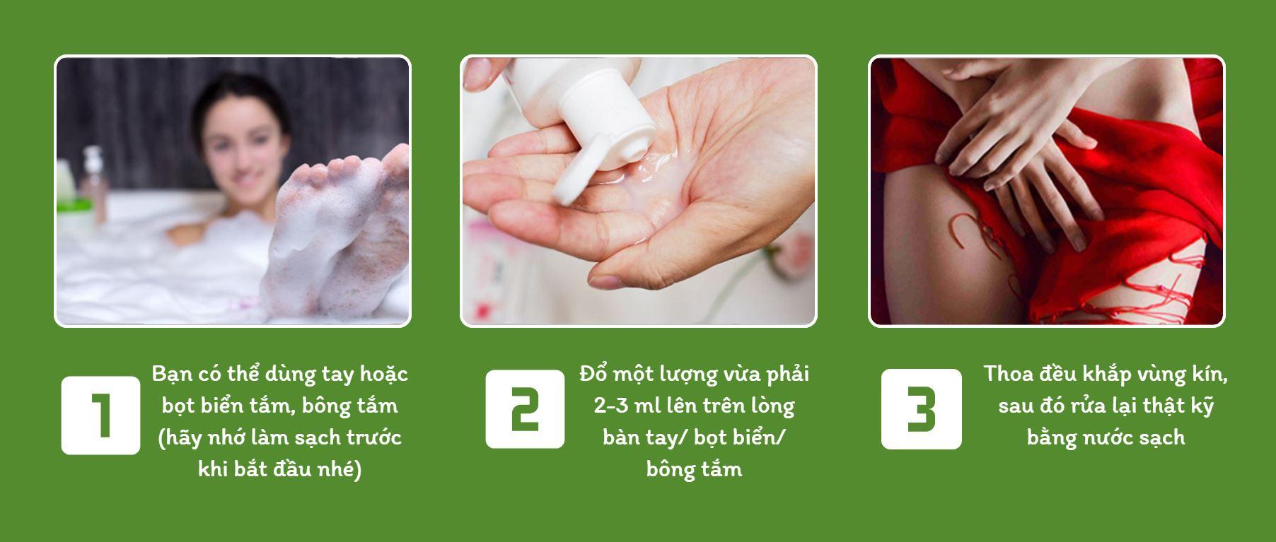 Cách dùng Dung Dịch Vệ Sinh Phụ Nữ Kolorex Intimate Wash