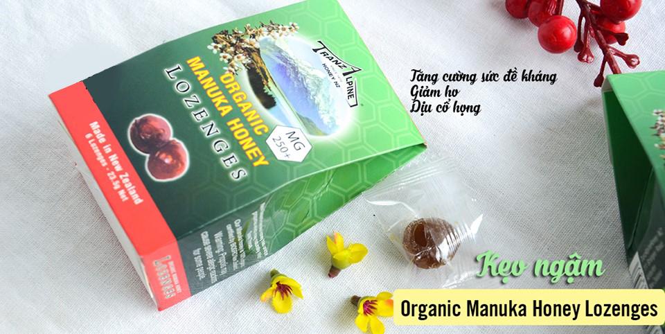 Kẹo Ngậm Trị Ho, Đau Họng Organic Manuka Honey Lozenges MG250+ (6 Viên) 3