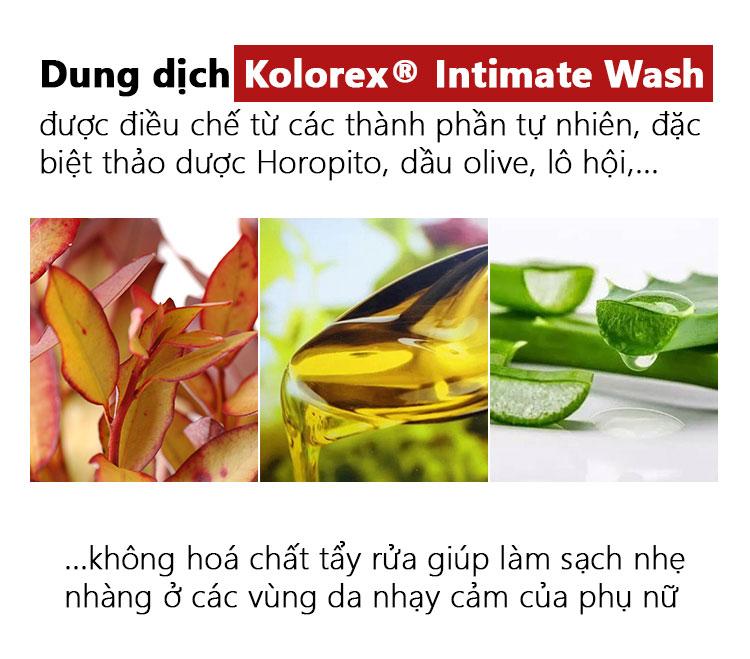Thành phần Kolorex Intimate Wash 120ml