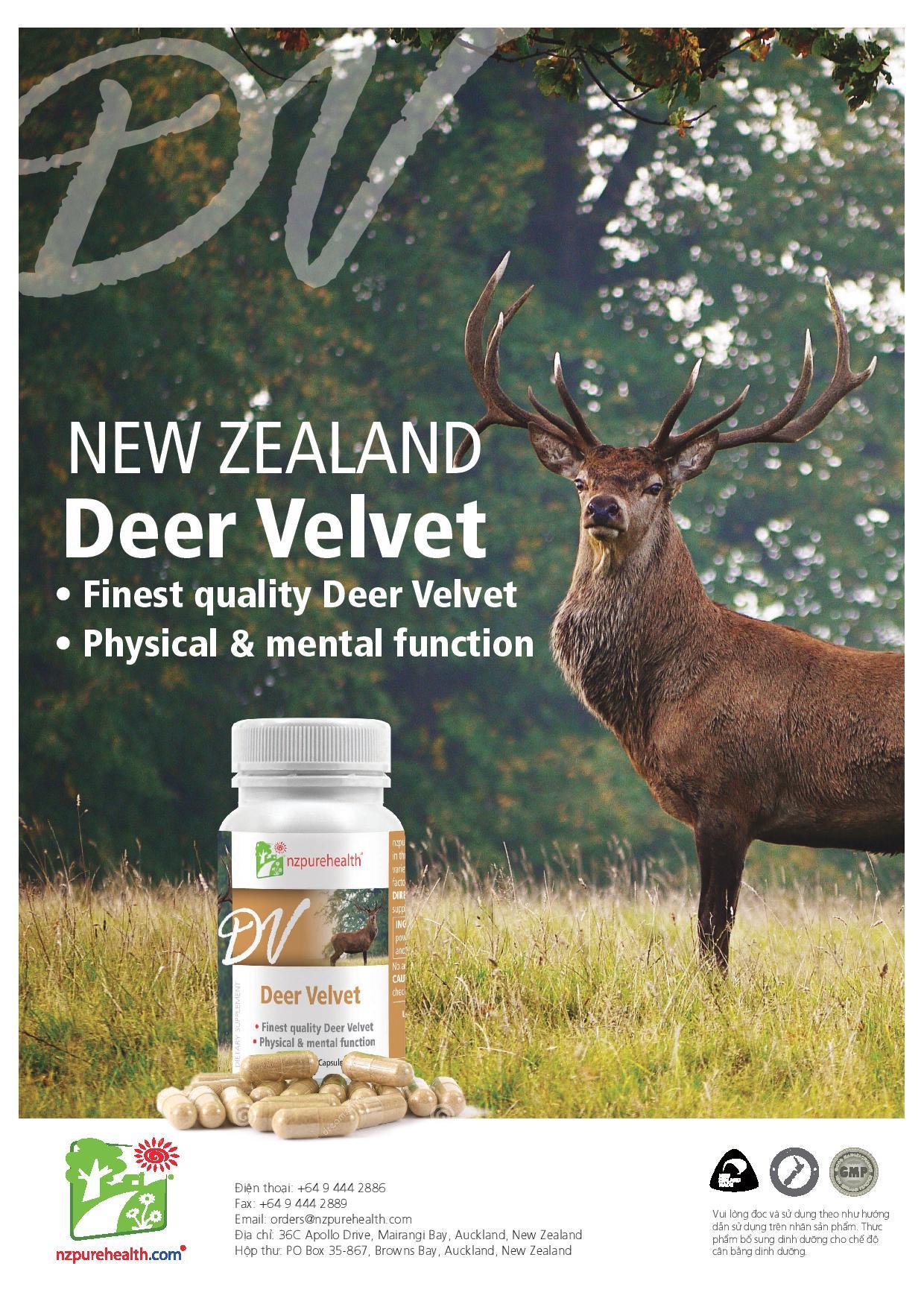 Viên Uống Nhung Hươu Deer Velvet NzPurehealth