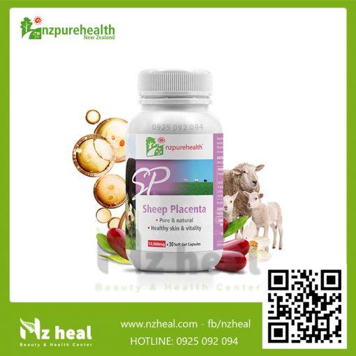 Viên Uống Nhau Thai Cừu Làm Mờ Nám, Tàn Nhang Sheep Placenta NZPureHealth
