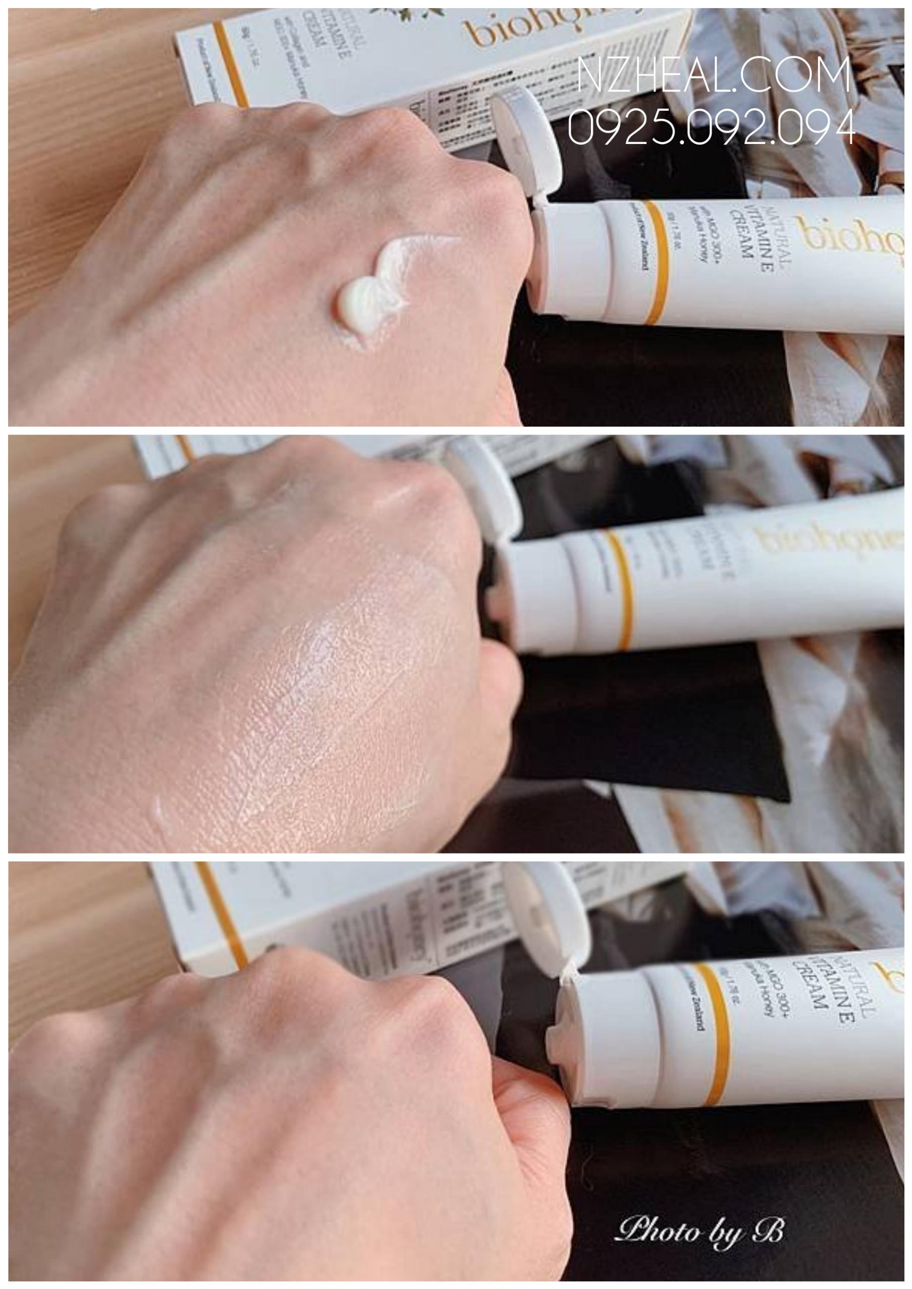 Kem bổ sung Vitamin E Biohoney Natural Vitamin E Cream 1