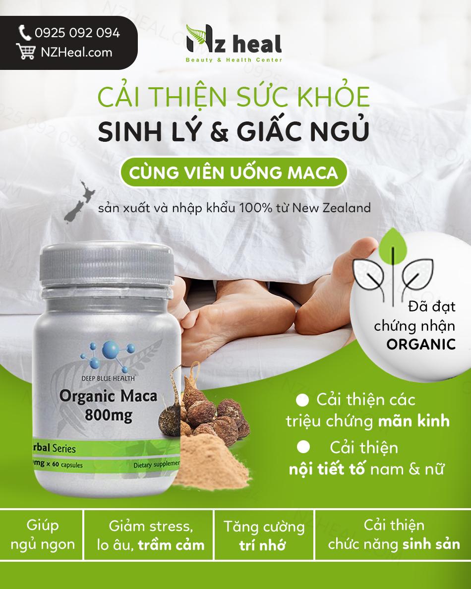 Viên uống tăng cường sinh lý Deep Blue Health Organic Maca