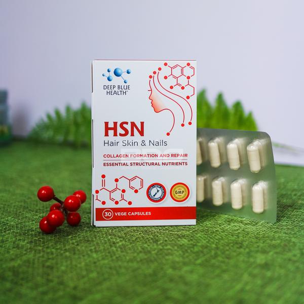 Viên uống hỗ trợ trị mụn, dưỡng móng tóc HSN – Deep Blue Health 6