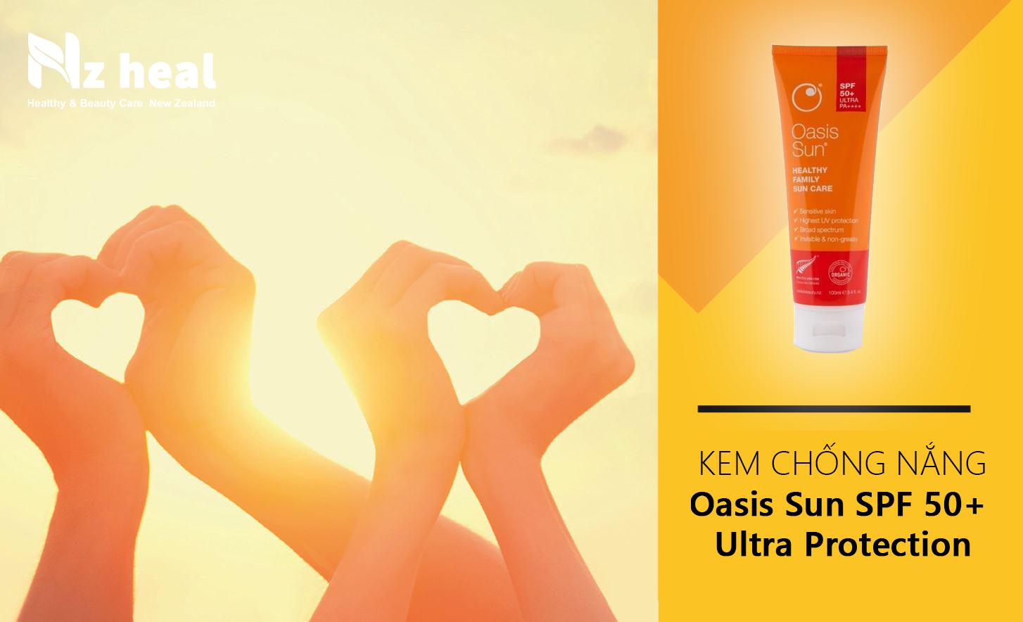 Kem chống nắng Oasis Sun SPF 50+ Ultra Protection dành cho da nhạy cảm