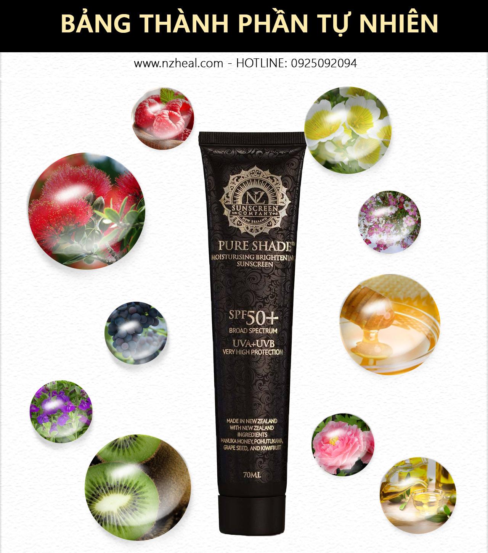 Kem chống nắng Pure Shade SPF 50+ Moisturising & Sunscreen 70ml 12