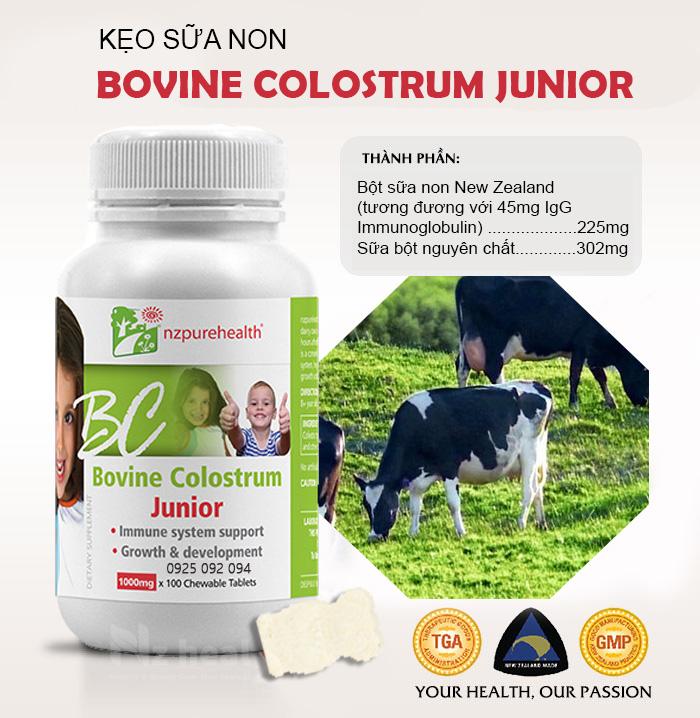 Kẹo Sữa Non Bovine Colostrum Junior - Nzpurehealth
