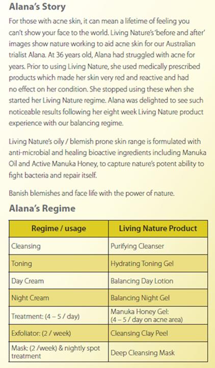 Living Nature Manuka Honey Gel review - Anna