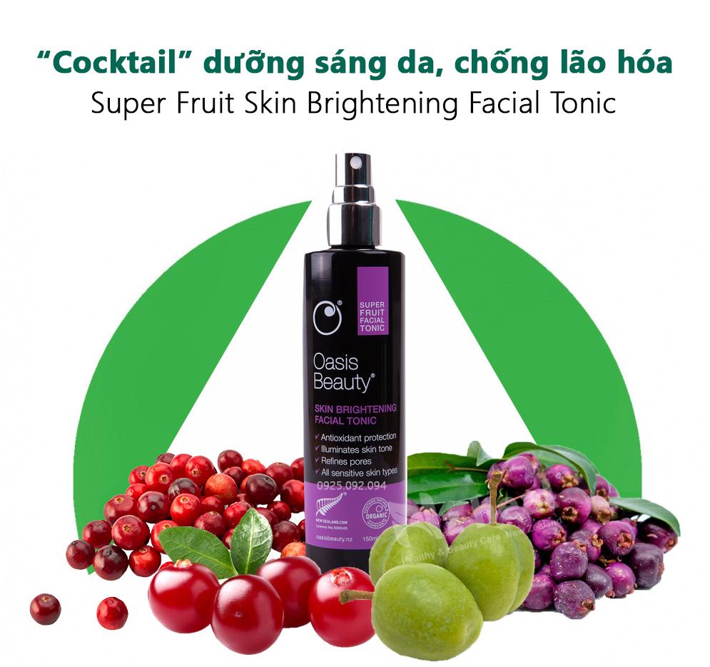 Xịt trắng da, chống lão hóa Super Fruit Skin Brightening Facial Tonic - 3