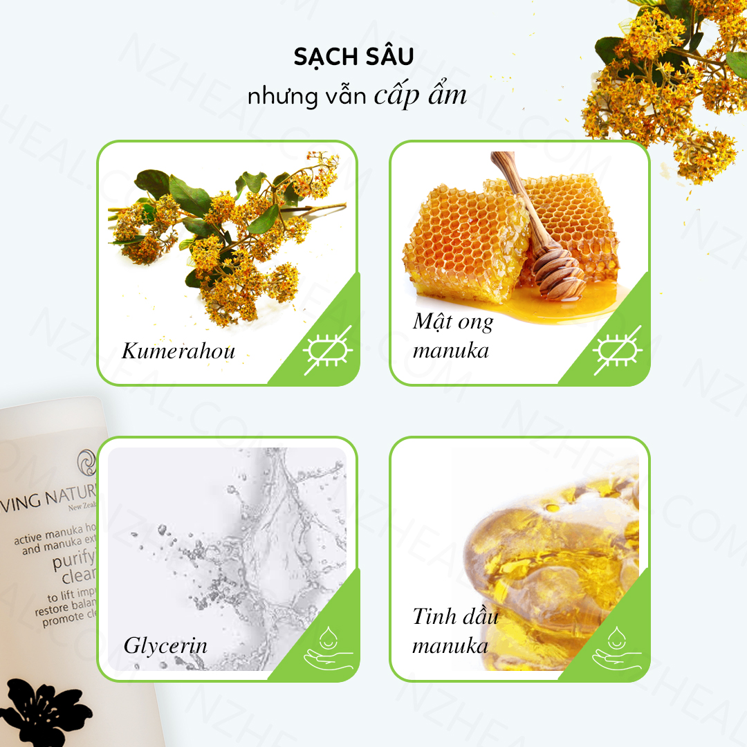 Sữa rửa mặt Living Nature Purifying Cleanser 5