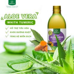 Nước ép hỗ trợ tiêu hóa Lifestream Biogenic Aloe Vera with Turmeric 500ml 2