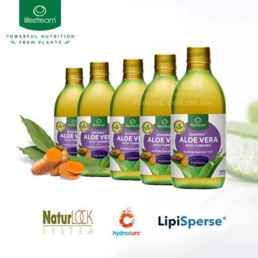 Nước ép hỗ trợ tiêu hóa Lifestream Biogenic Aloe Vera with Turmeric 500ml 16
