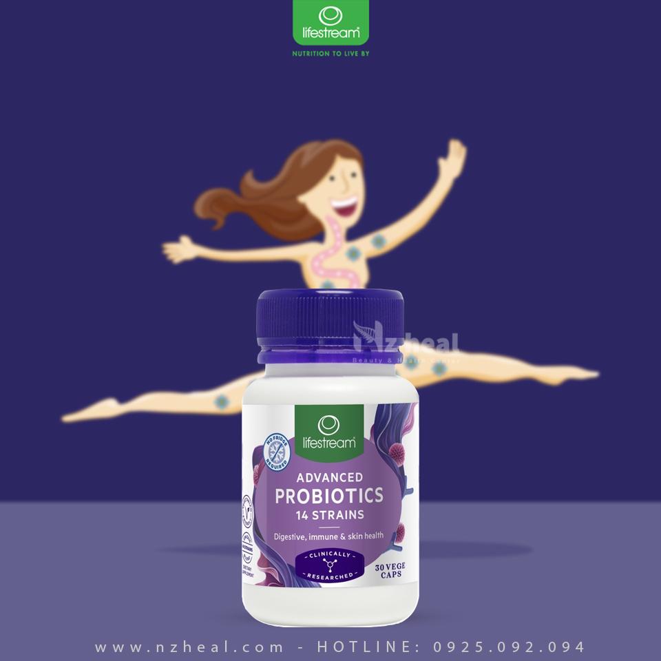 Viên uống men vi sinh Lifestream Advanced Probiotic 30 viên 1