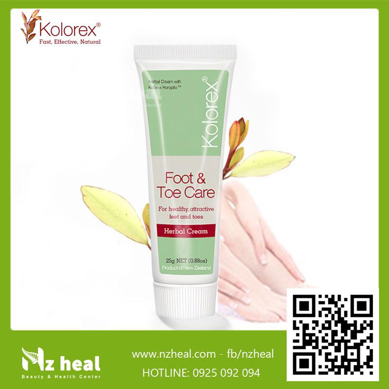 Kem trị nấm móng tay chân Kolorex Foot & Toe Care Cream 5g