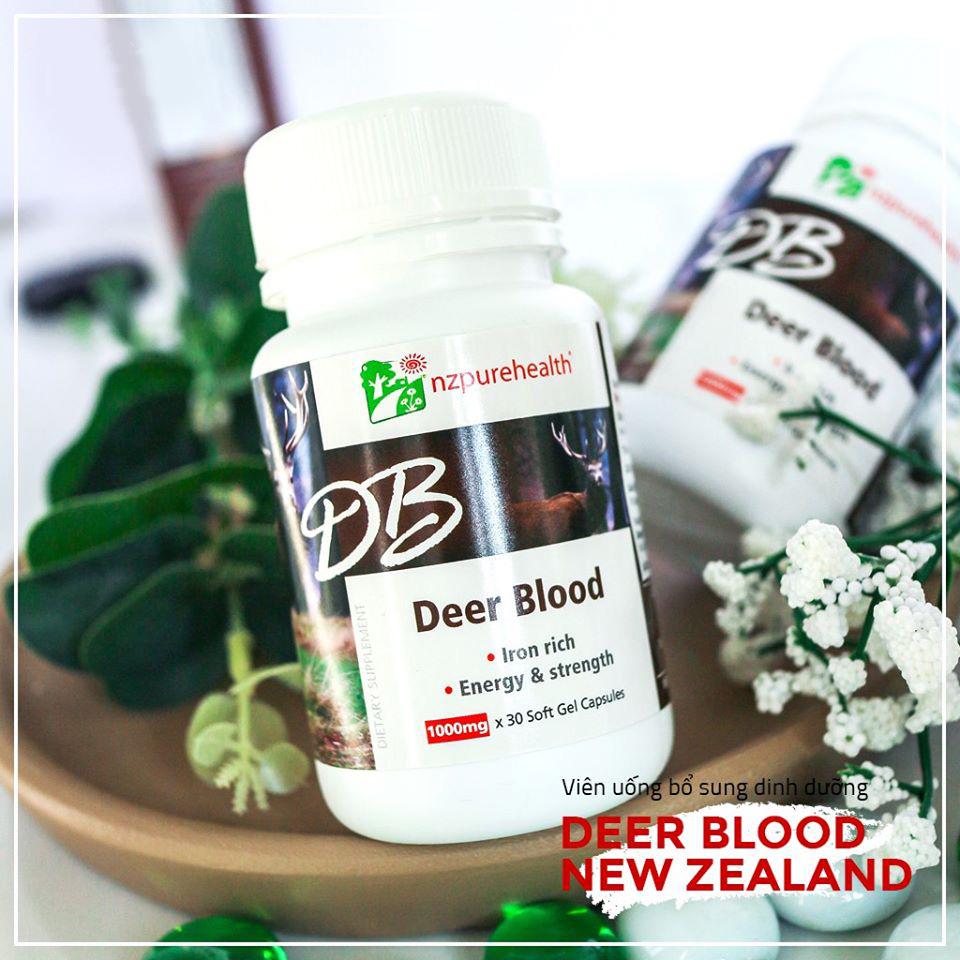 Viên nang máu hươu bổ máu, cấp sắt Deer Blood NZPurehealth 3