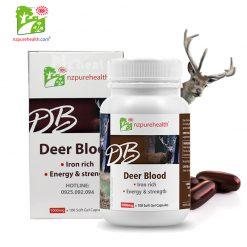 Viên nang máu hươu cấp sắt, bổ máu Deer Blood NZPurehealth (100 viên)