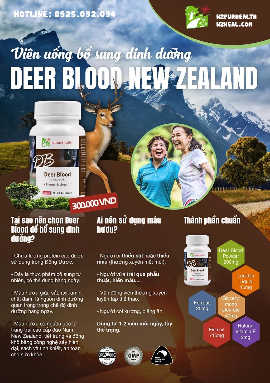 viên uống bổ máu Deer Blood