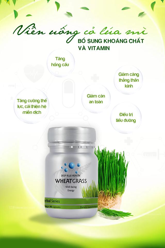 Công dụng Deep Blue Health Wheat Grass