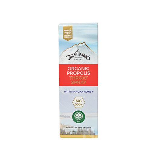 Xịt keo ong Organic Propolis Throat Spray with Manuka Honey MG550+ 1