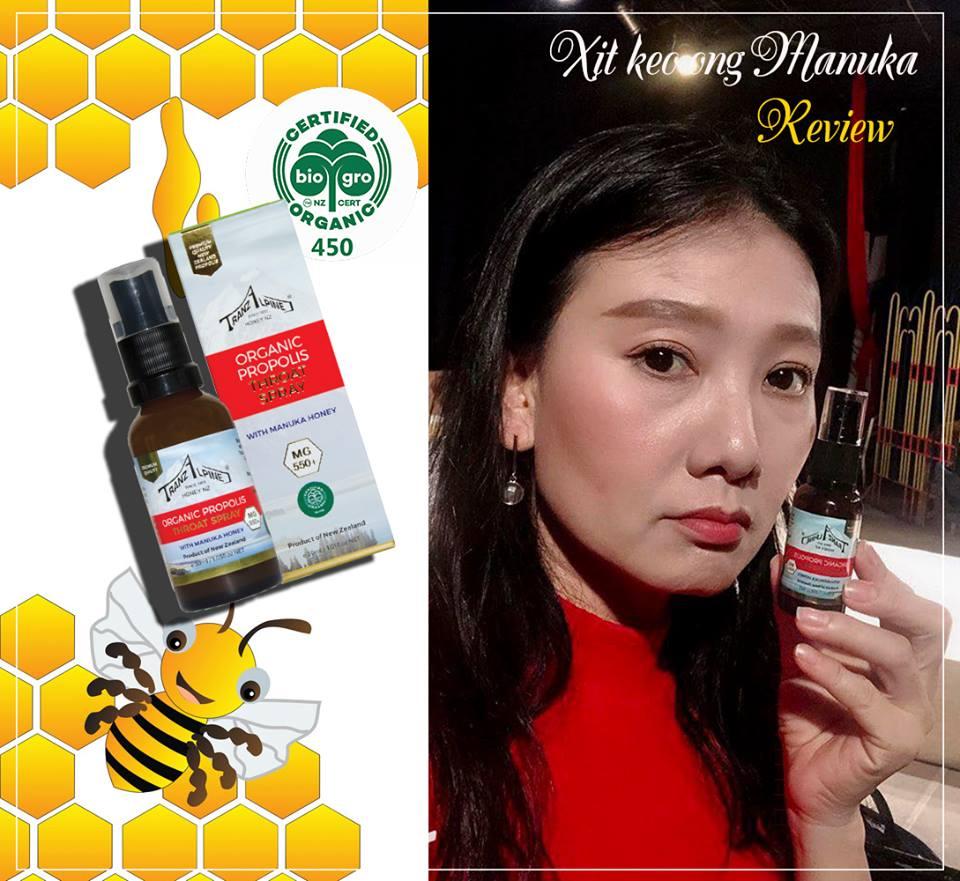 Xịt keo ong Organic Propolis Throat Spray with Manuka Honey MG550+ 3