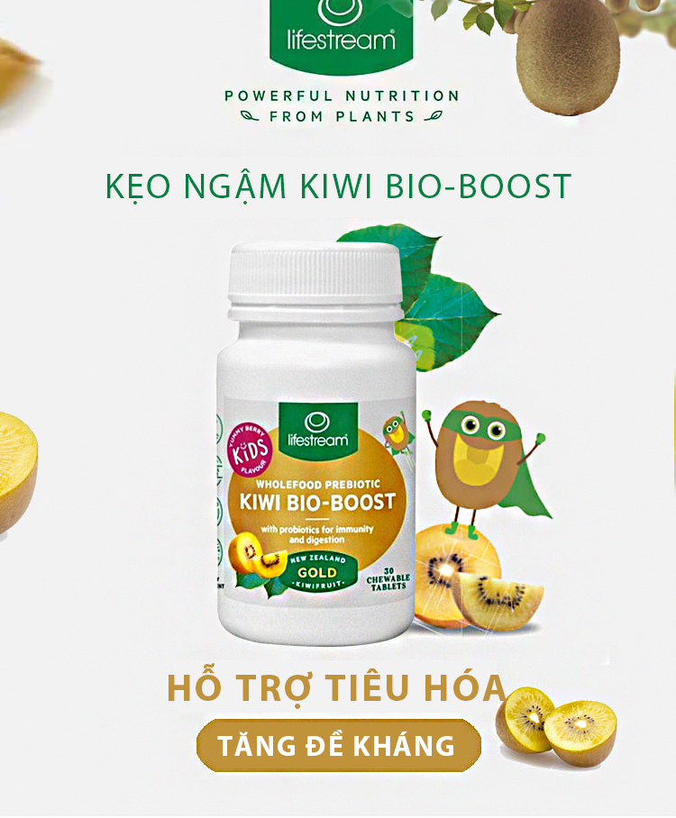 Kẹo Ngậm Lifestream Kiwi Bio-Boost 30 Viên 3