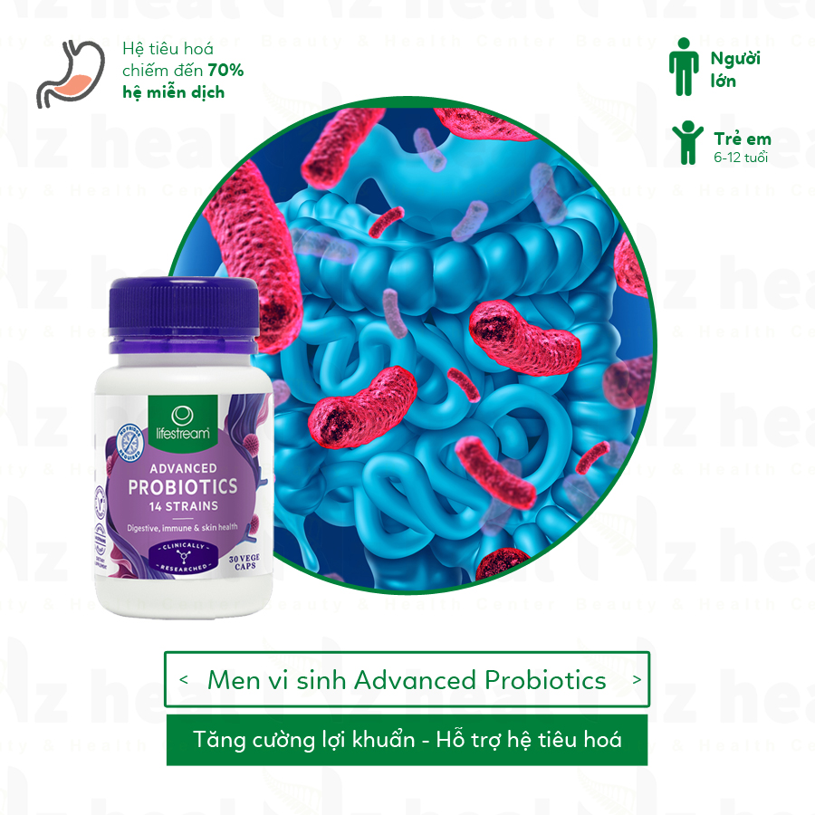 MEN VI SINH LIFESTREAM ADVANCED PROBIOTICS