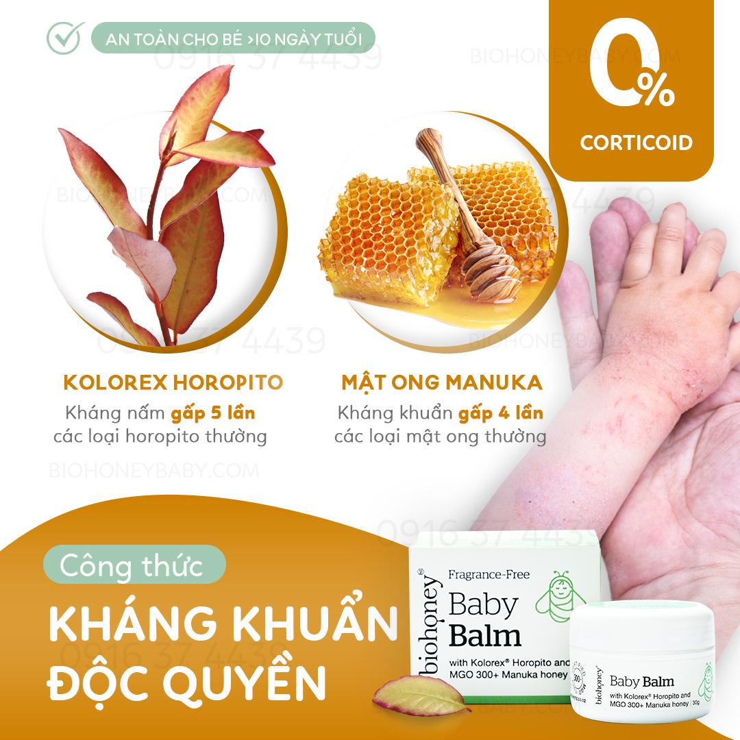 Kem trị chàm mật ong Manuka Biohoney Baby Balm