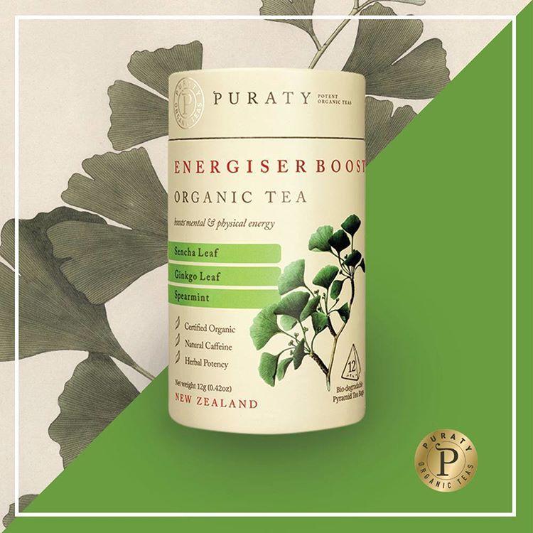 Trà hữu cơ tăng năng lượng Energiser Boost Organic Tea 12g - Puraty NZ