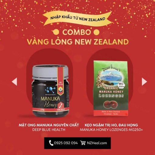 """Set quà """"vàng lỏng"""" mật ong Manuka New Zealand"""