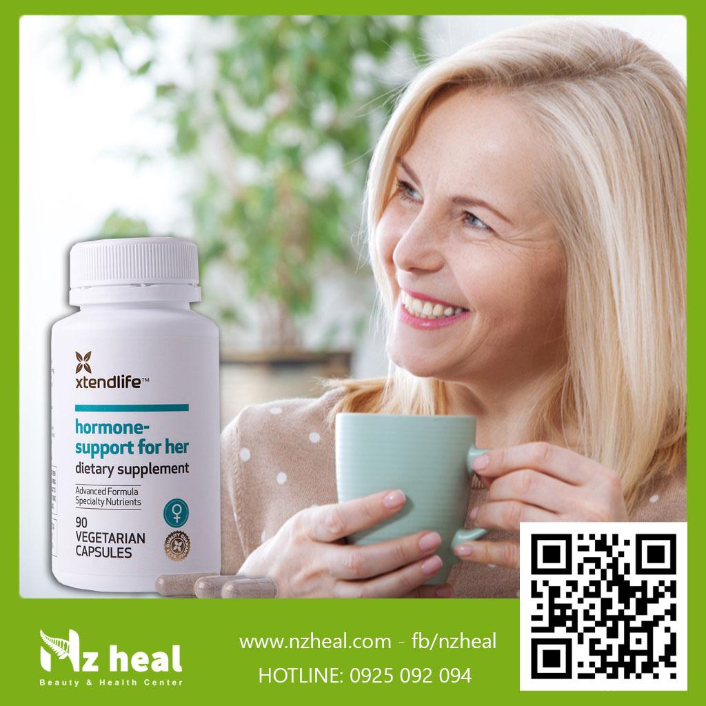 Viên Uống Tăng Nội Tiết Tố Nữ Hormone Support For Her Xtend-Life (90 Viên)