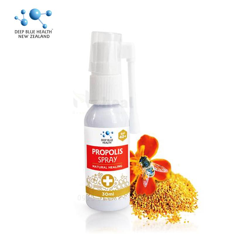 Review Xịt họng keo ong Deep Blue Health Propolis Spray Plus (BIF 40+) có tốt không? Cách sử dụng?