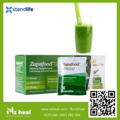 Siêu thực phẩm kiềm hoá xanh Zupafood GREENZ Xtend-Life